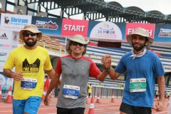 three ultra runners