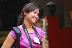 Poornima with her camera
