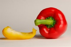 Yellow and red chilli