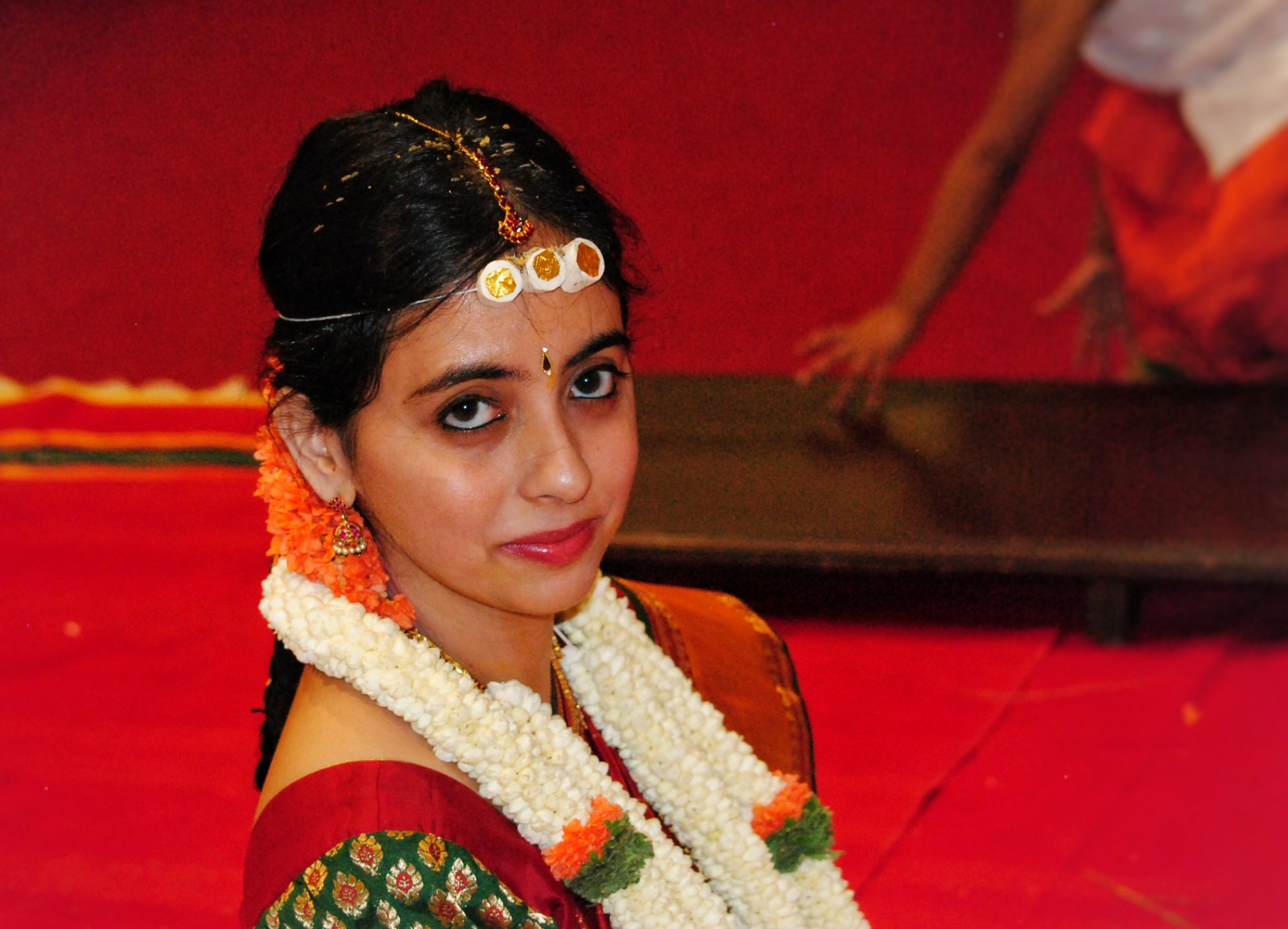 Confident happy look of an indian bride