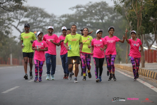 Spirit of Pinkathon - Mysuru2Bengaluru with VI Runners